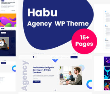 WordPress creative agency theme of Habu